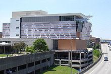 The Muhammad Ali Center, alongsideInterstate 64 on Louisville's riverfront